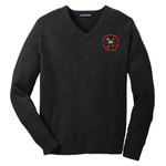 SW300 - L114E013 - EMB - V-Neck Sweater
